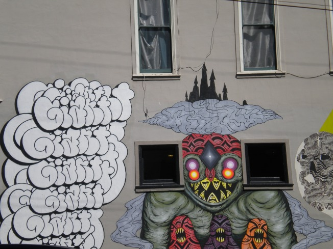 Graffitis Barrio Haight Ashbury en San Francisco