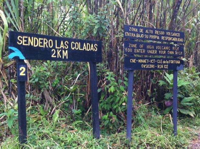 Senderos del Parque Nacional Volcán Arenal. Costa Rica