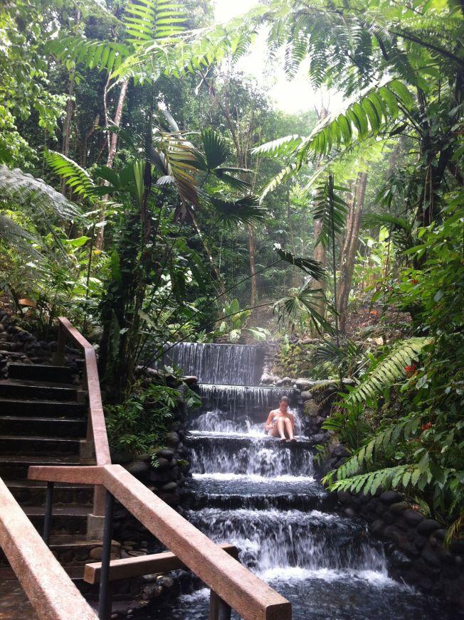 Termas Ecotermales en La Fortuna. Costa Rica