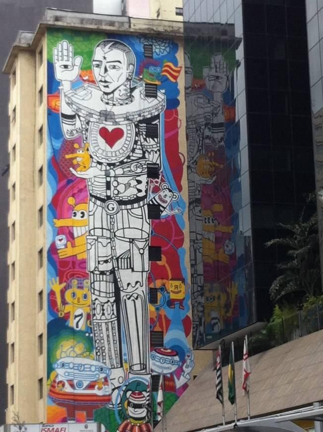 Graffitis en la Avenida Paulista en São Paulo